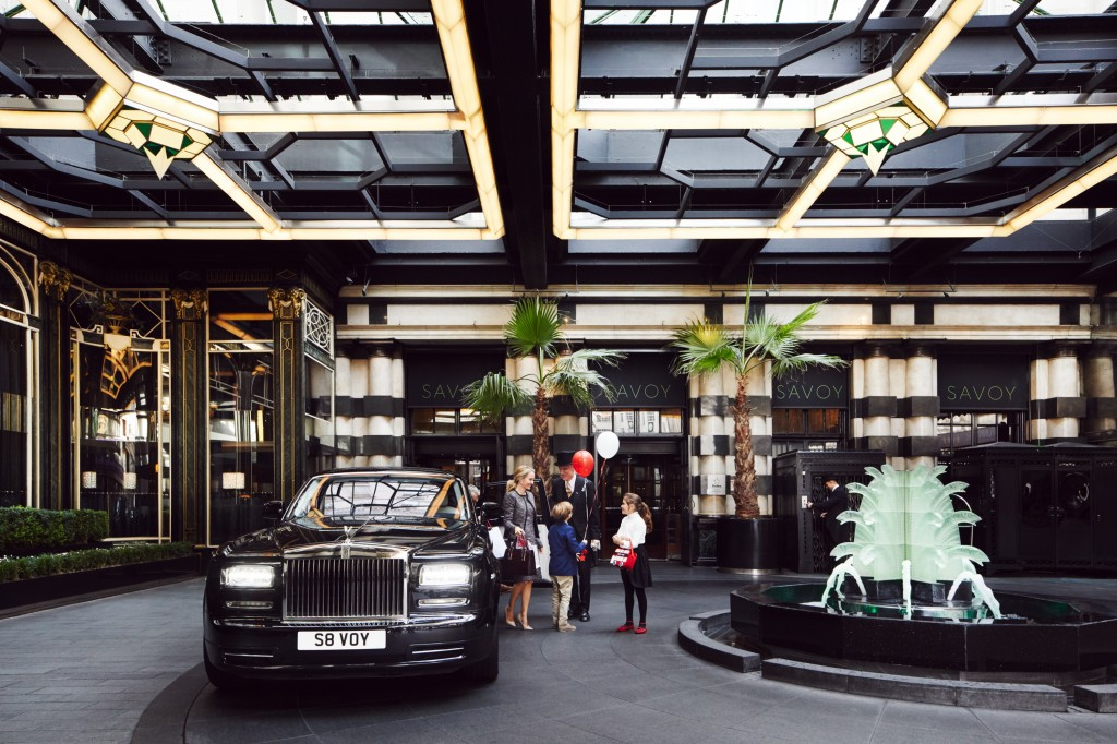 Savoy Entrance - Family Shot. Photo credit to Hubert Kang