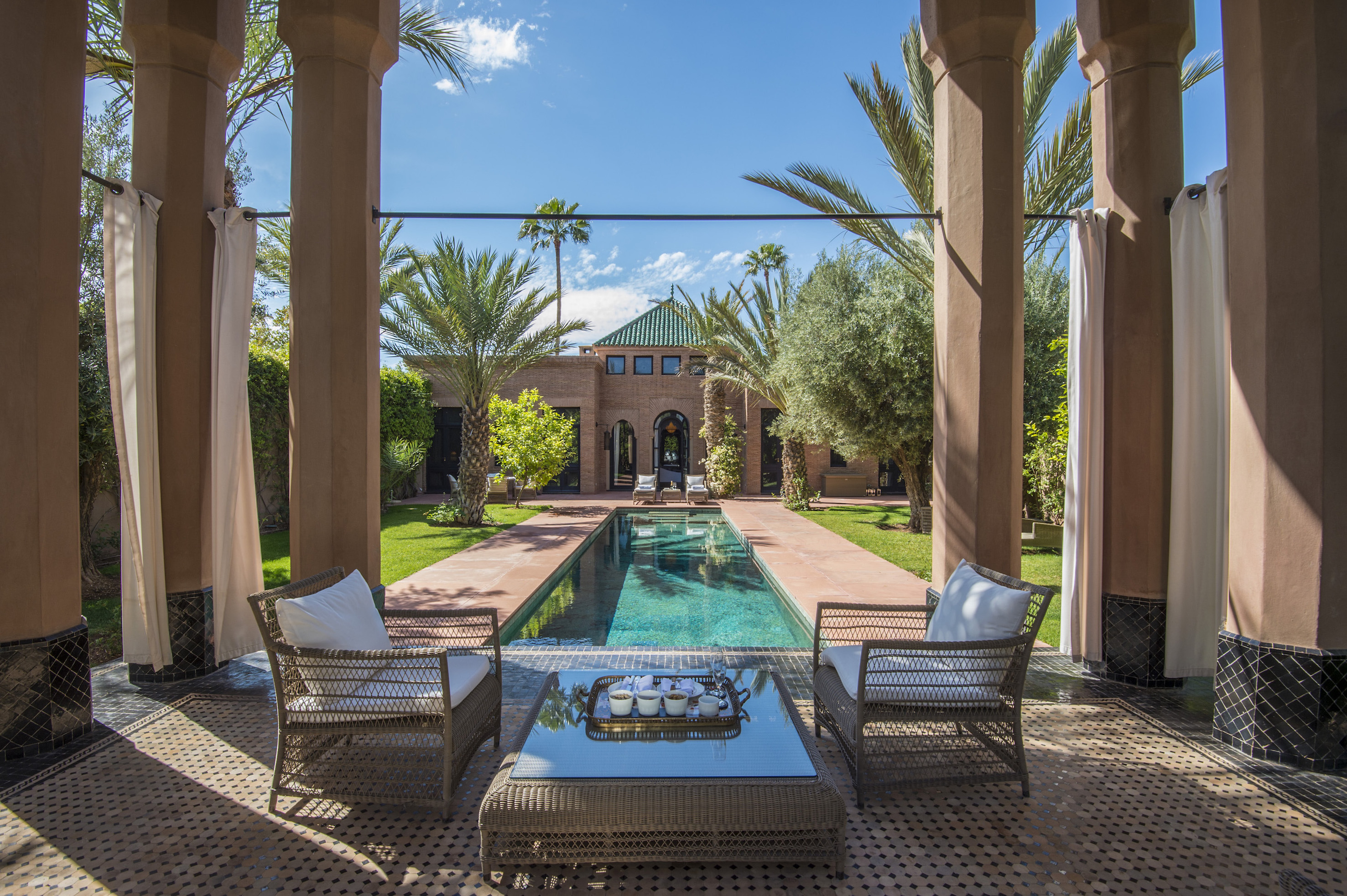 Self isolate under the warm sun of Marrakesh in one of Selman's private villas, which feature private pools and gardens.