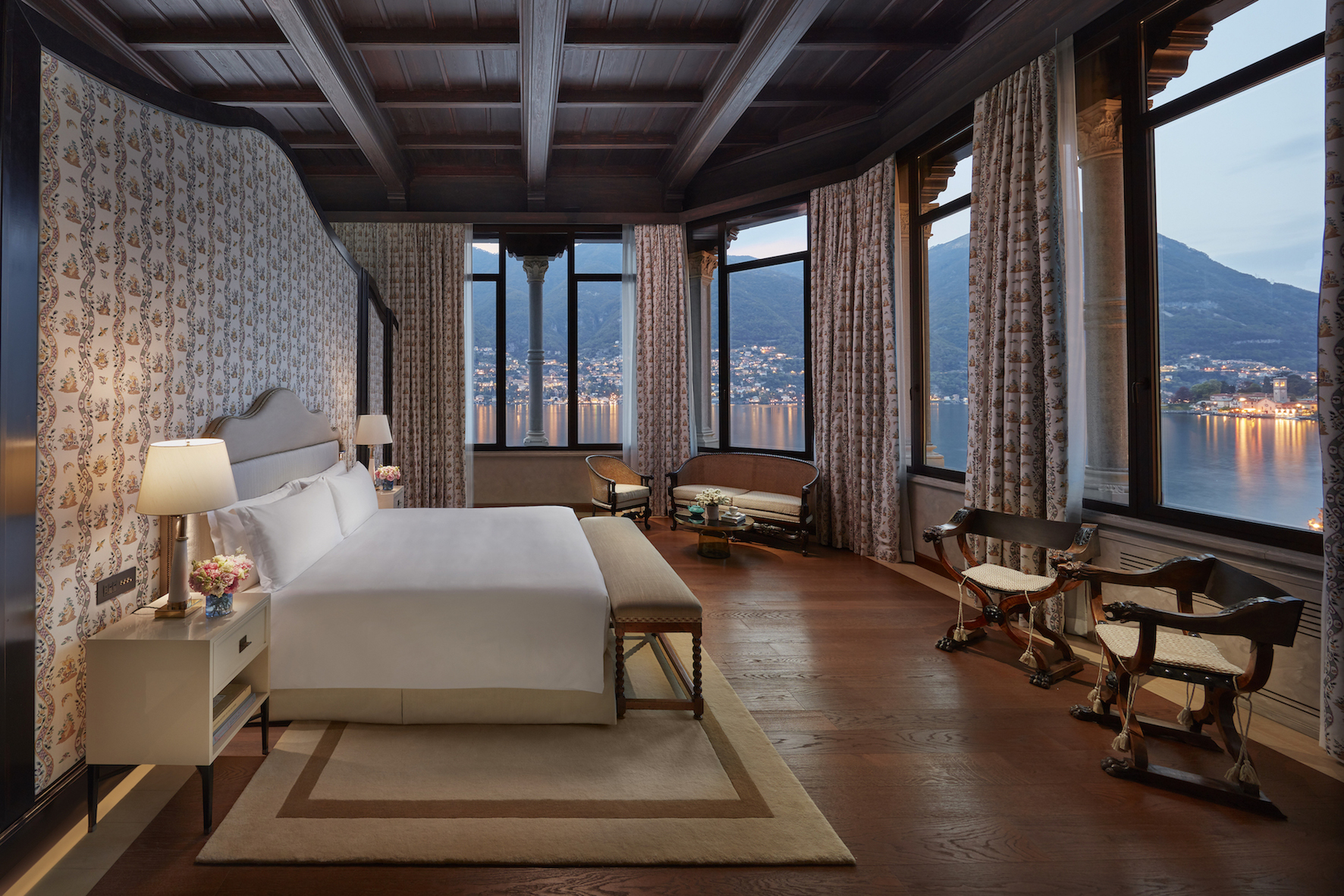 Self isolate in the Mandarin Oriental Lake Como penthouse suite with breathtaking views of the lake.